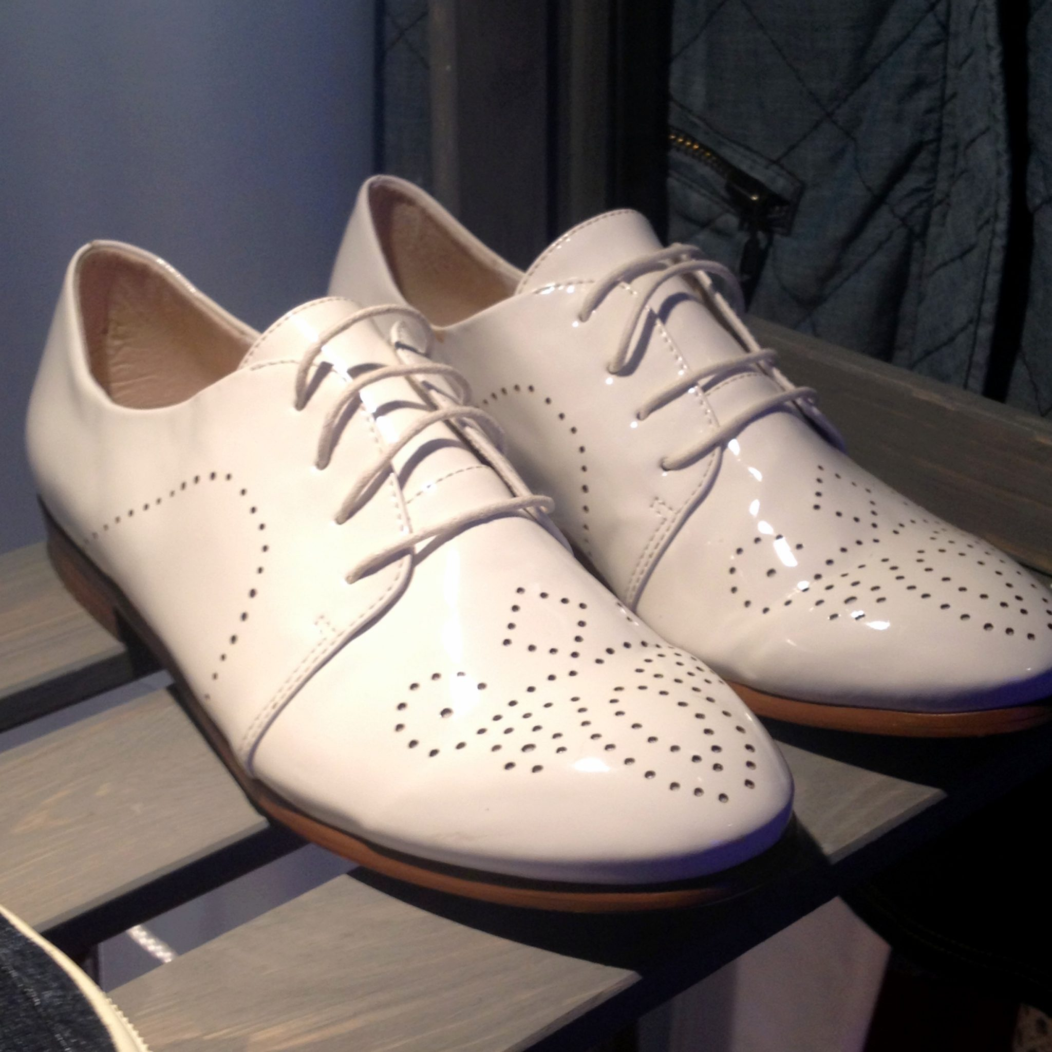 NEXT laser cut white brogues