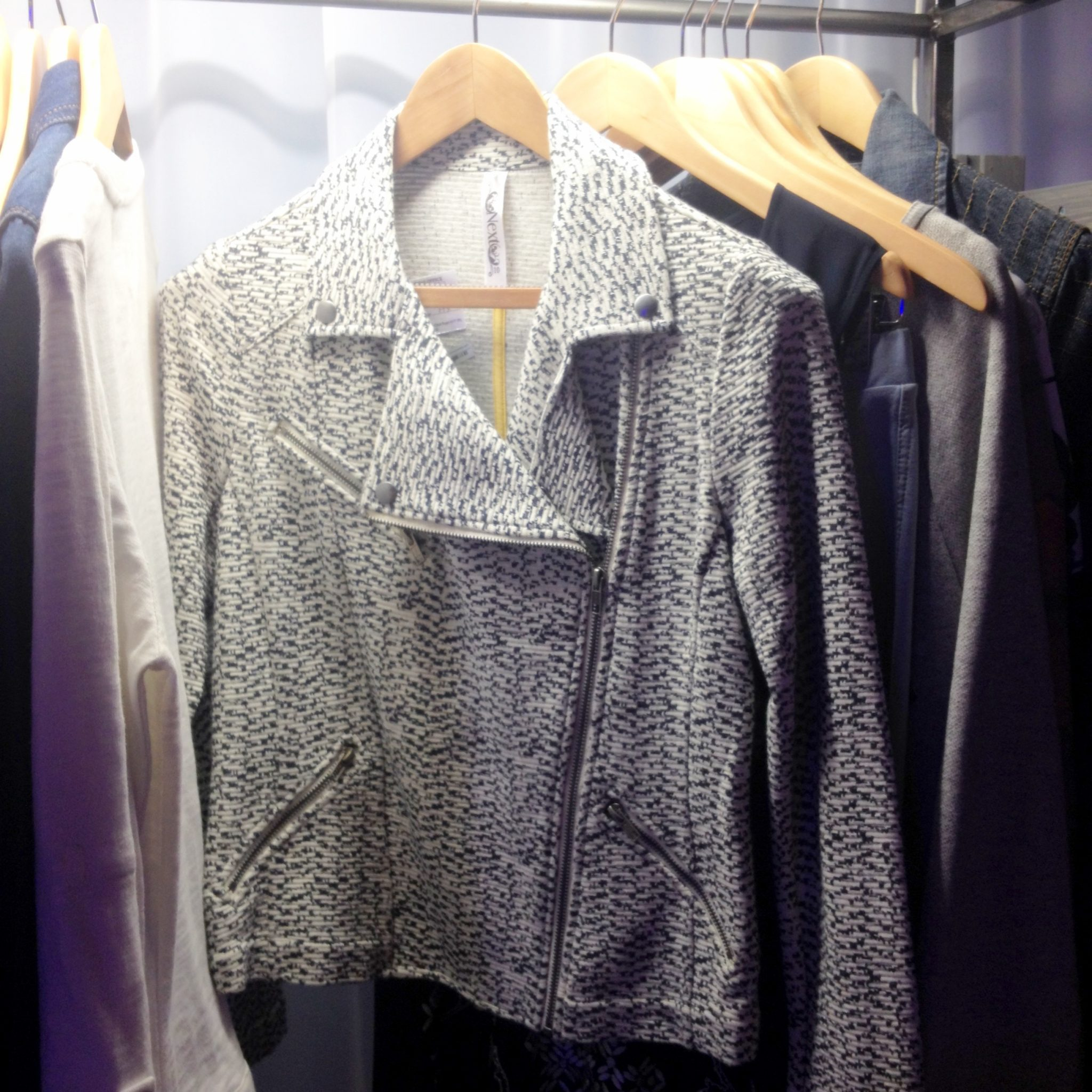 NEXT Womenswear Tweed biker jacket