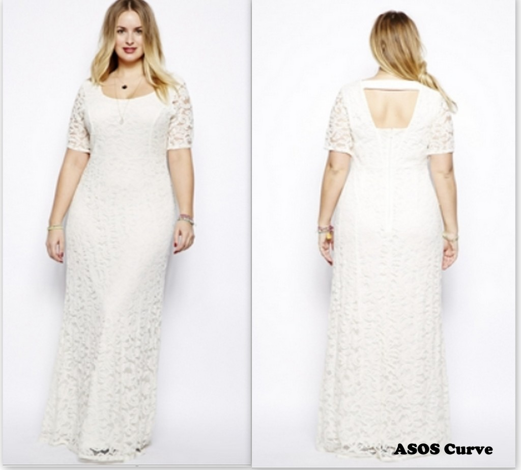 ASOS curve white sheer dress like Beyonce Plus Size