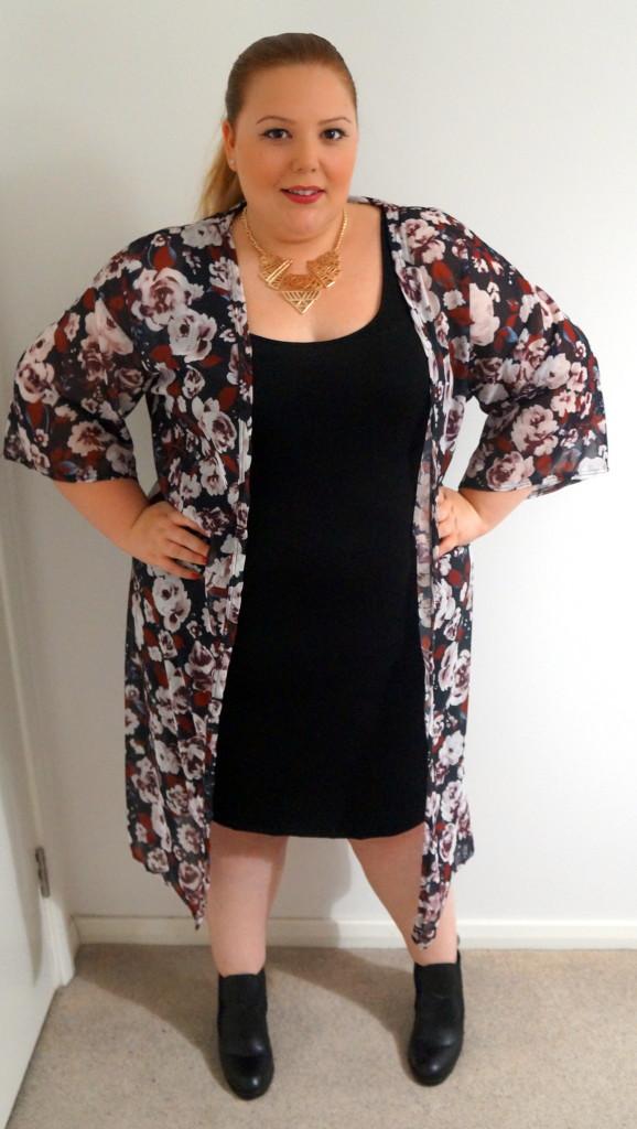 Boohoo Plus Size Long Length Kimono