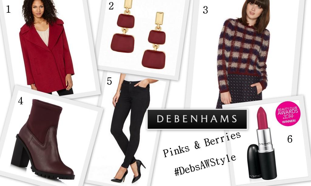 Debenhams Pinks & Berries Autumn Style