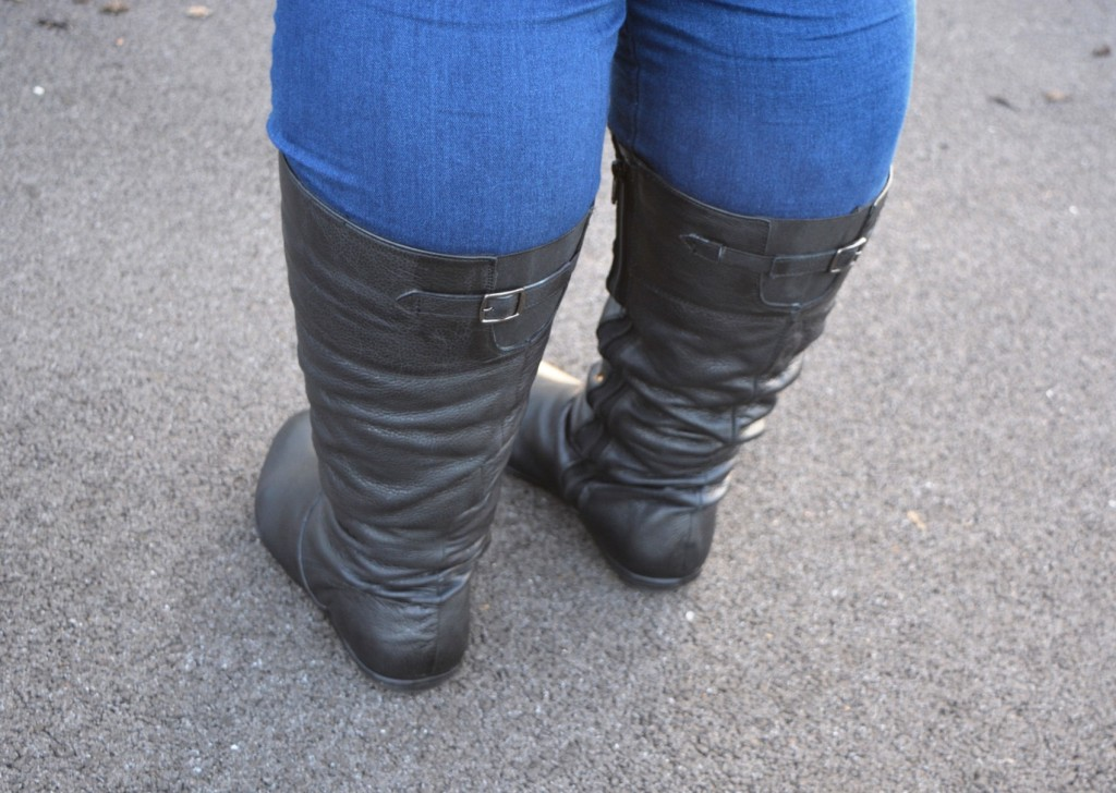 Evans #24hrshoes Wide Fitting Knee Length Boots