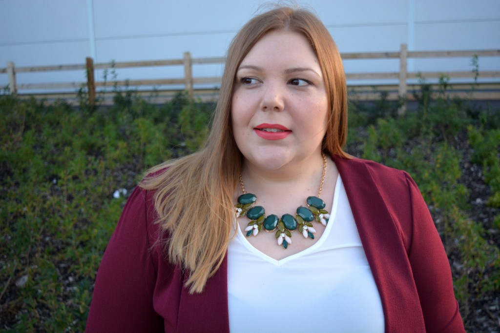 Plus Size Blogger - Pretty Big Butterflies - Evans Statement Necklace