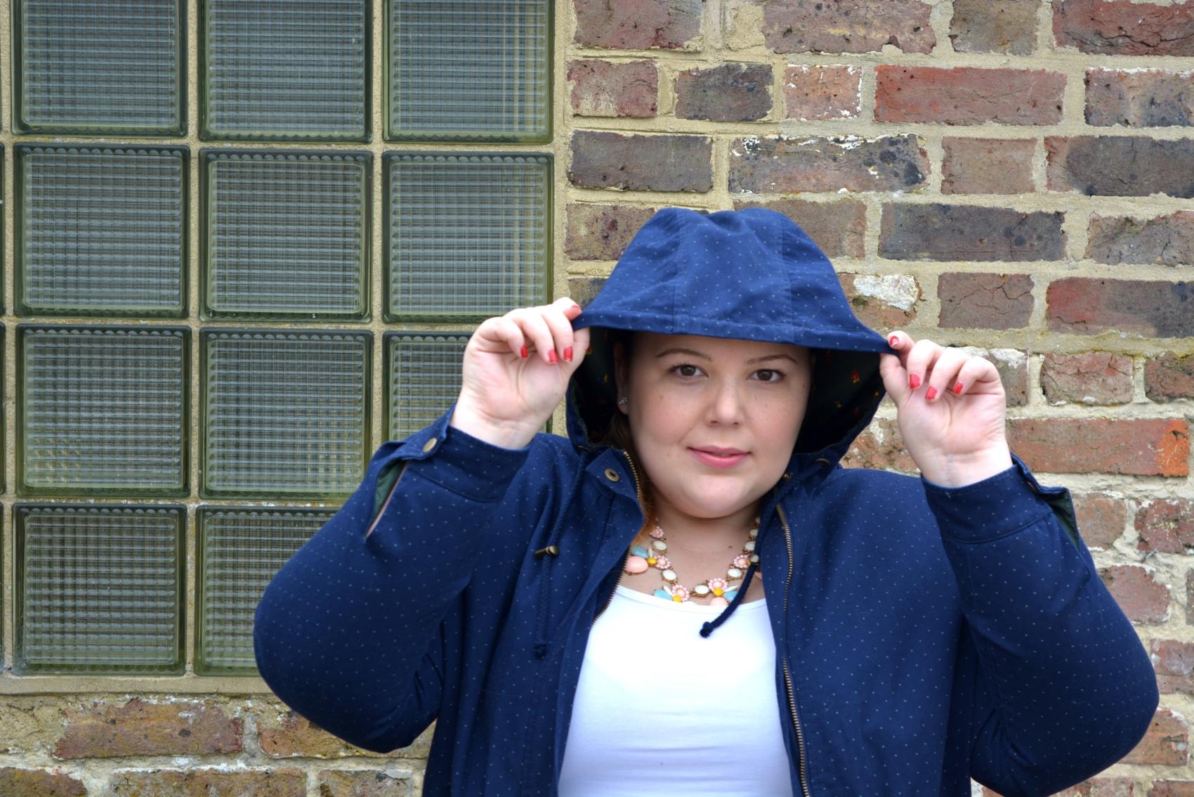 Plus size rain coat