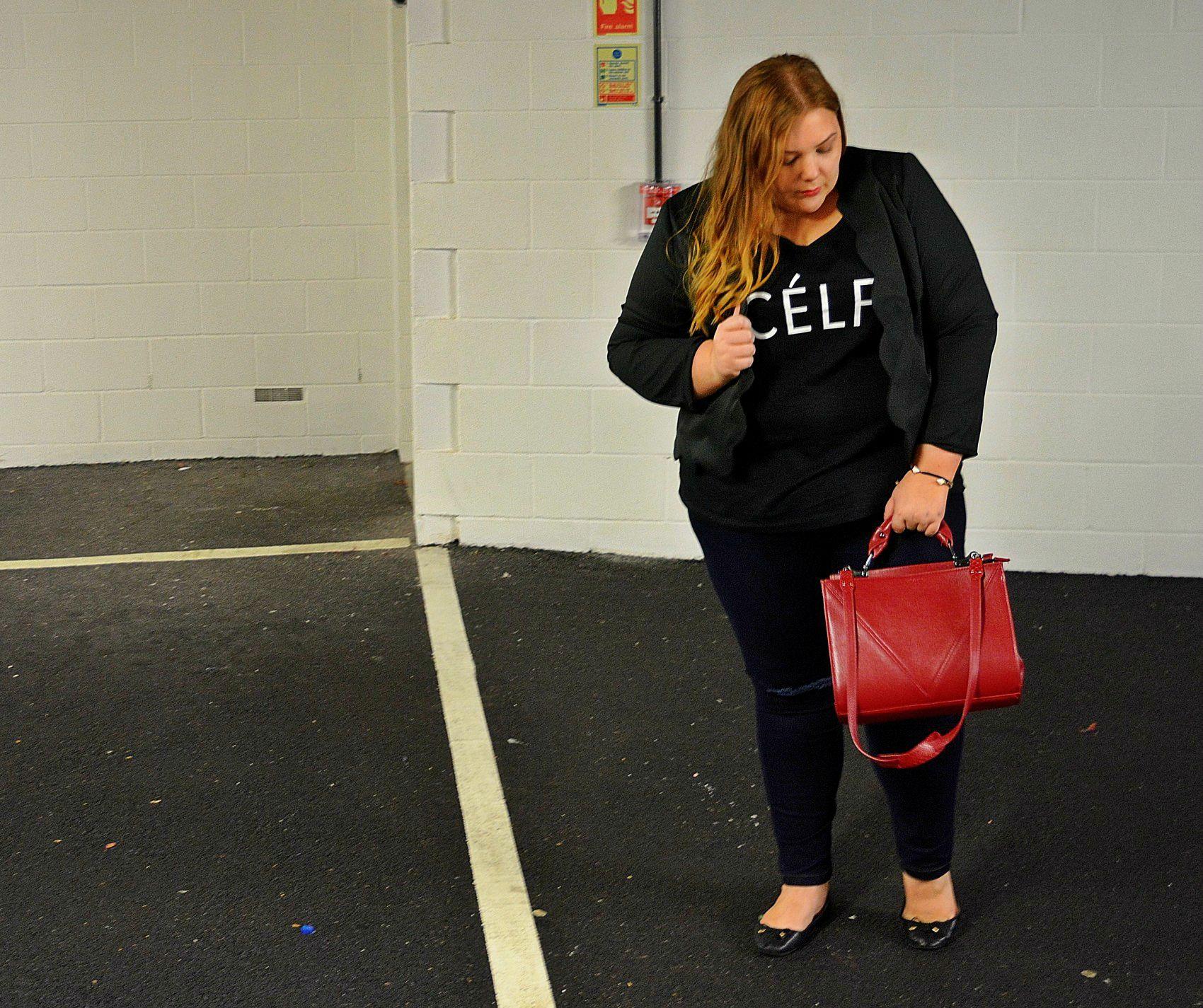 Plus Size Celfie T Shirt - Pretty Big Butterflies -