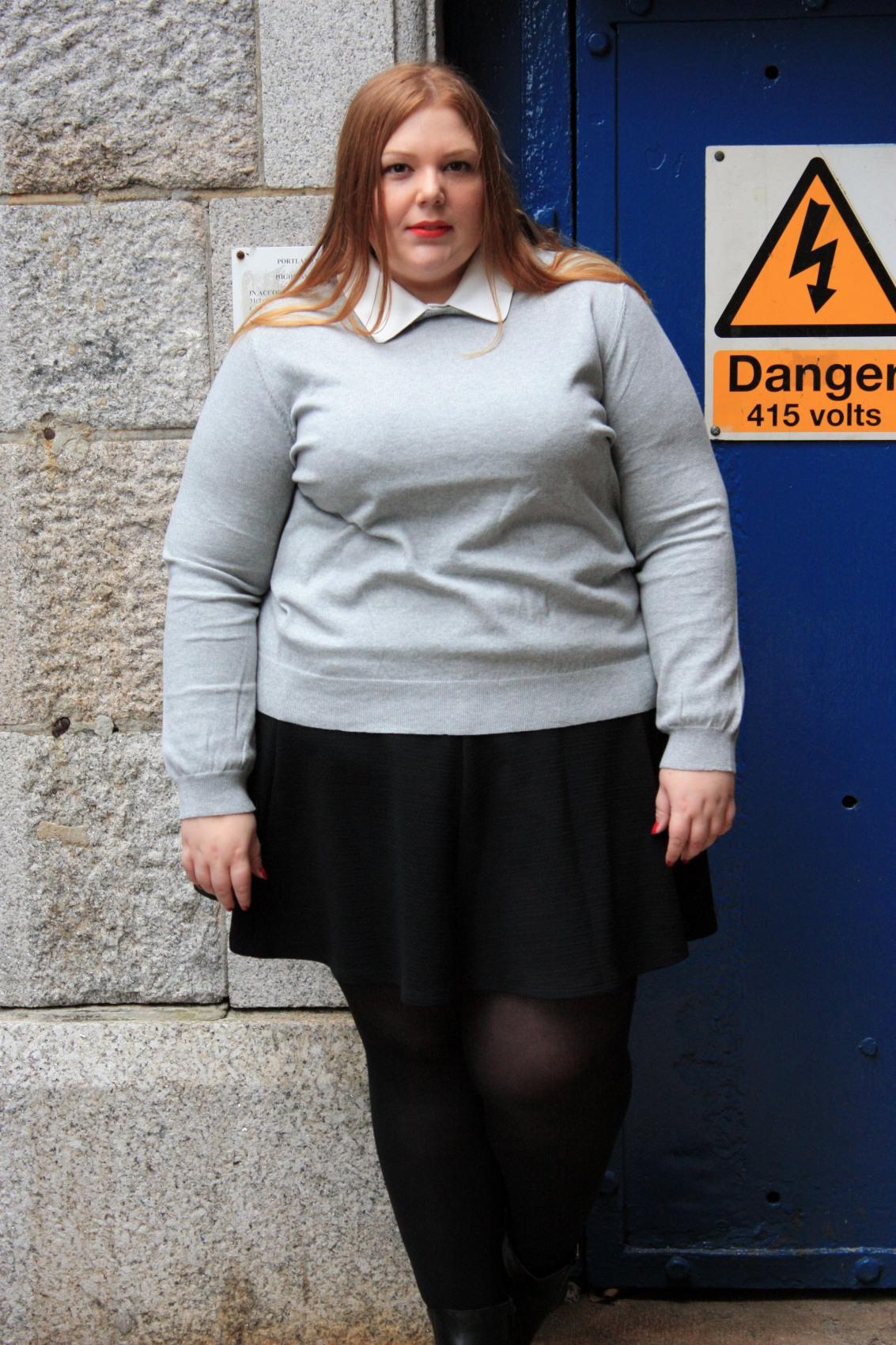 Plus Size blogger Pretty Big Butterflies wearing Kelly Osbourne