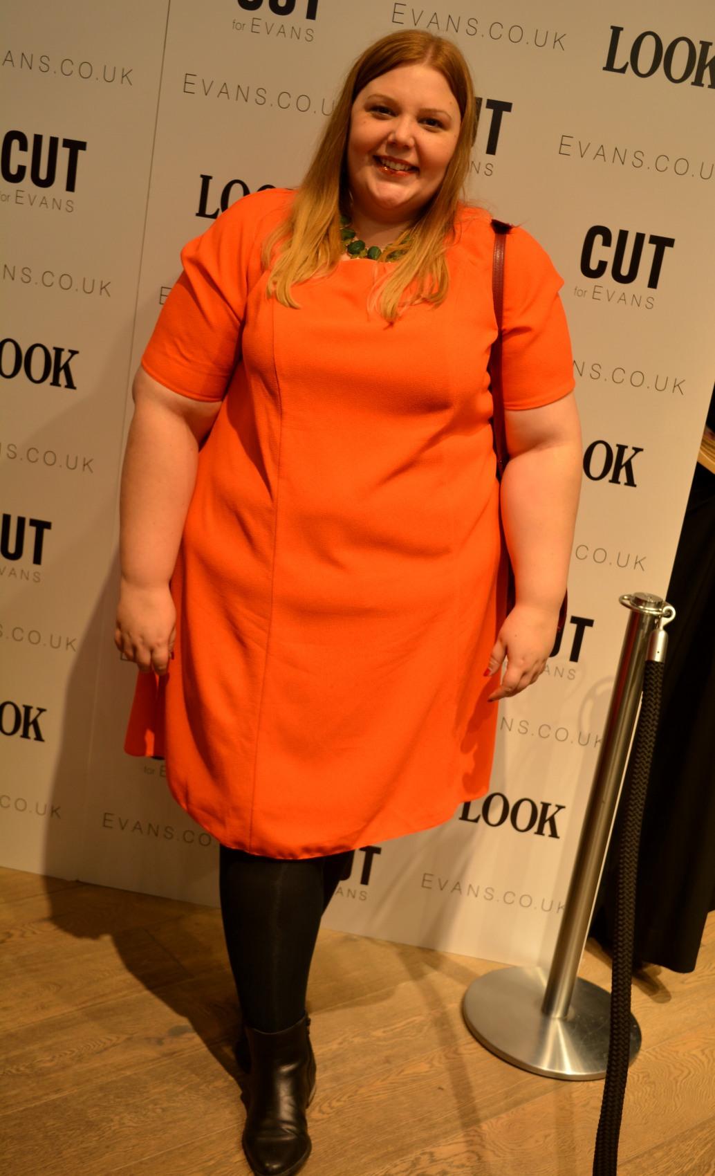 Evans Bright Orange Swing Dress
