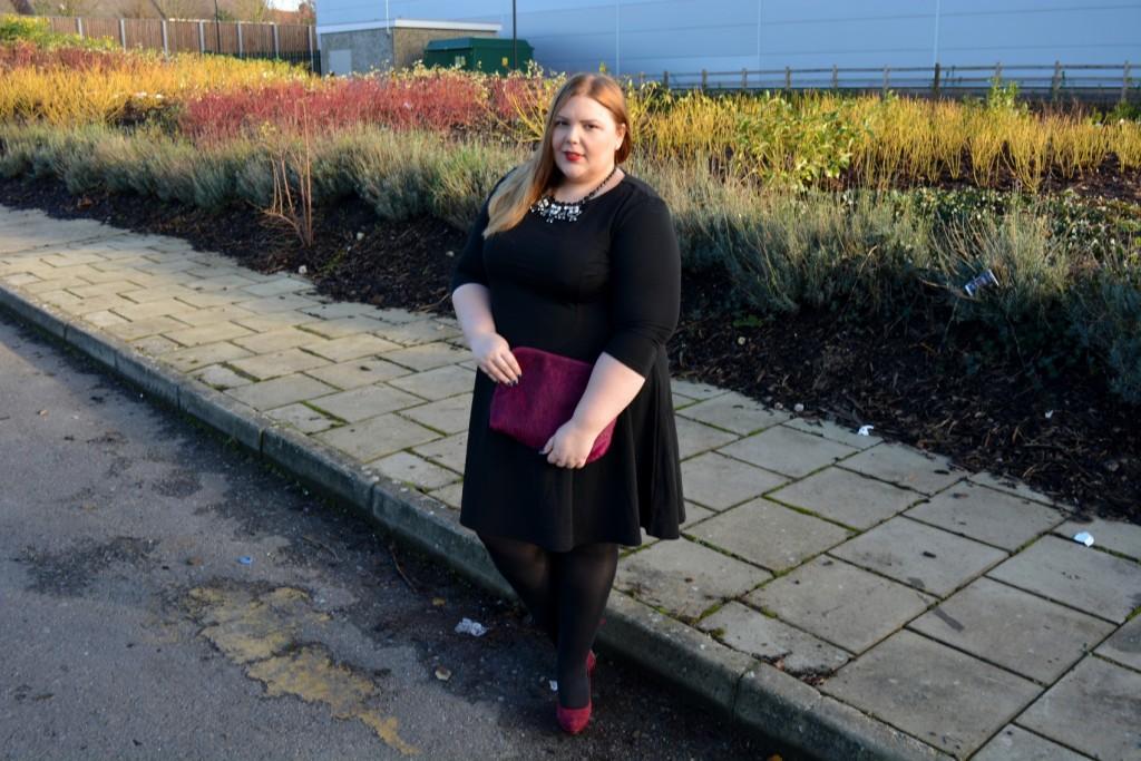 Elvi Plus Size Perfect Black Party Dress