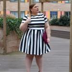 Plus Size Black & White Dress