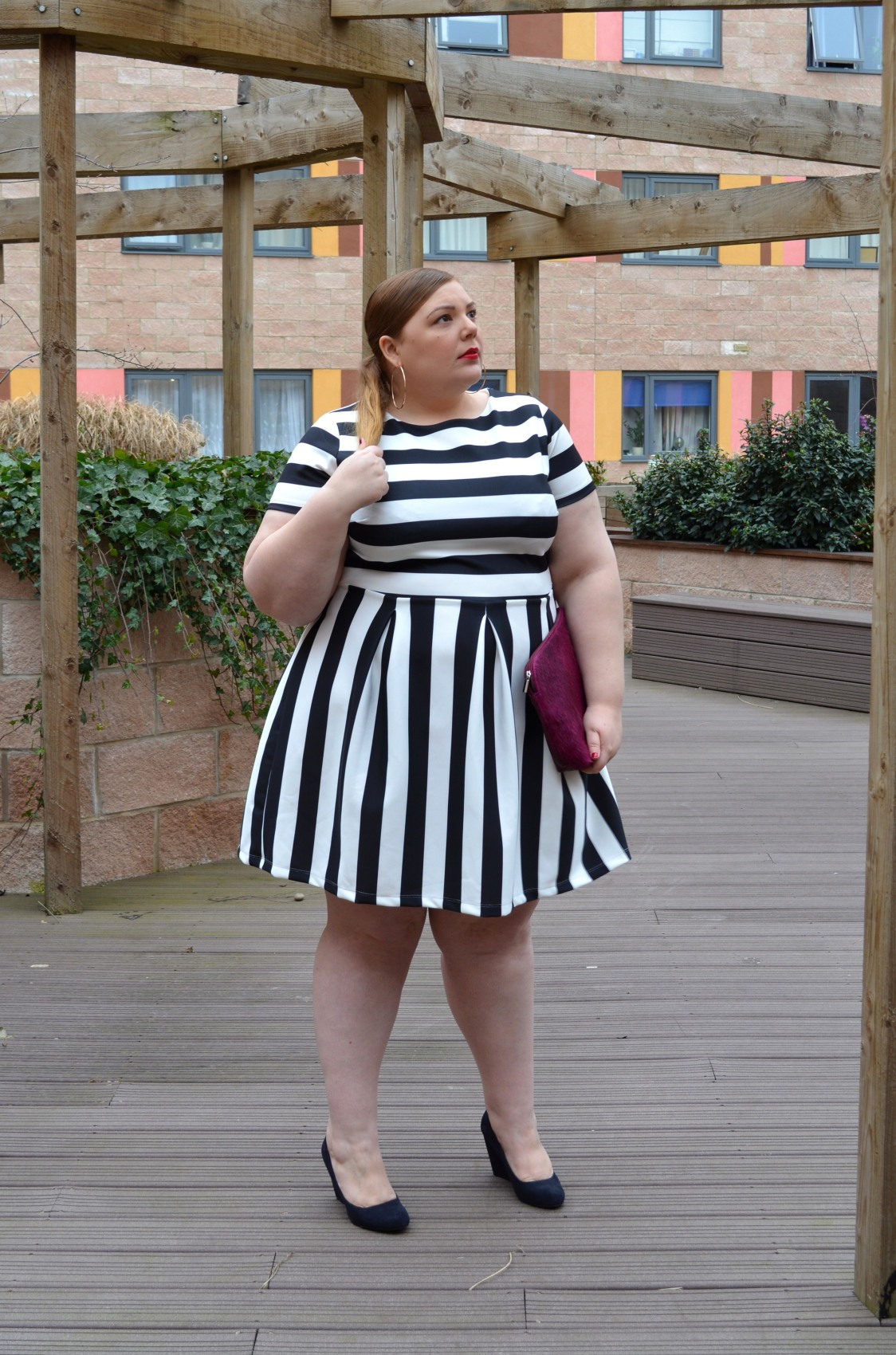 White Skater Dress Plus Size Plus Size Black White Dress
