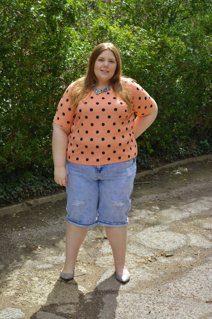 Plus Size New Look Inspire Holiday Denim Shorts