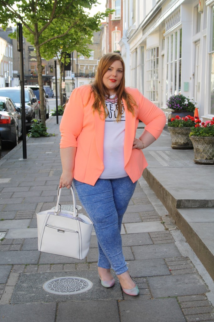 Plus Size Summer Outfit - Pretty Big Butterflies