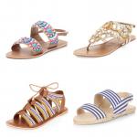 Wide Fit Sandals - Pretty Big Butterflies