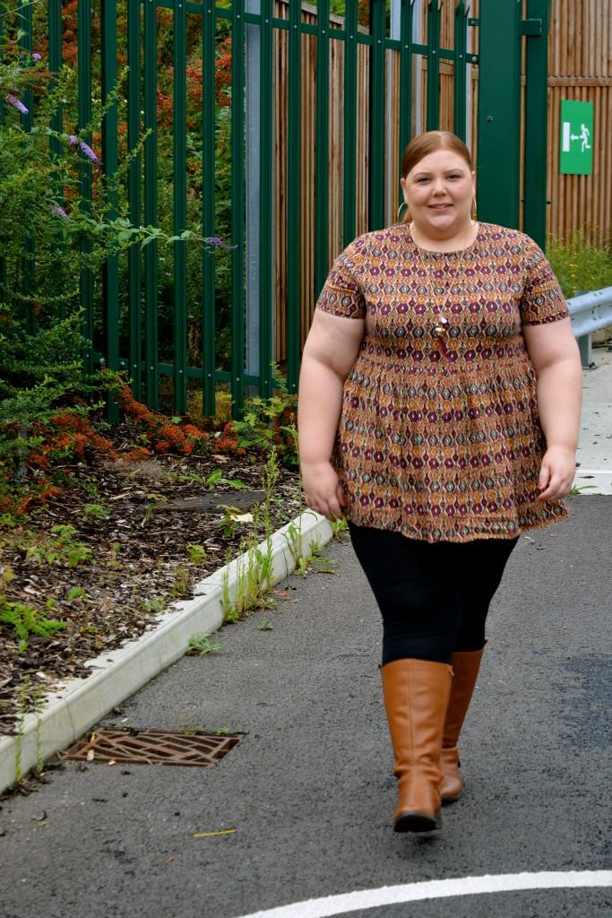 Pretty Big Butterflies  - Wide Calf Boots