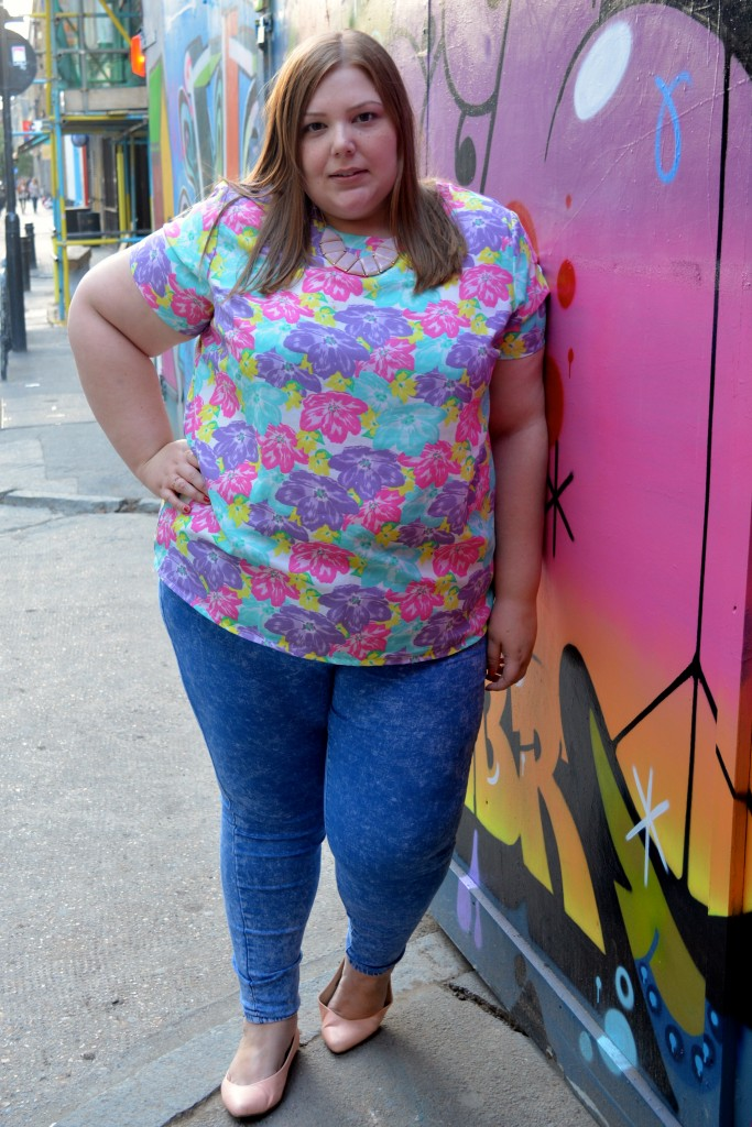 Pretty Big Butterflies - Bright Plus Size Outfit