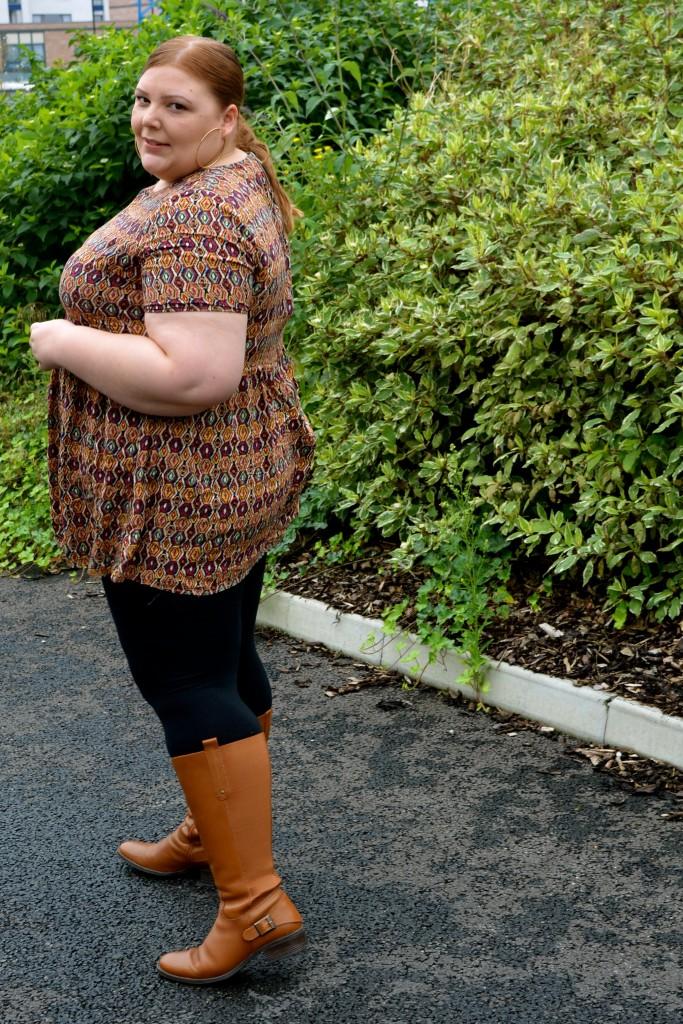 Pretty Big Butterflies  - Autumn Plus Size Boots Review