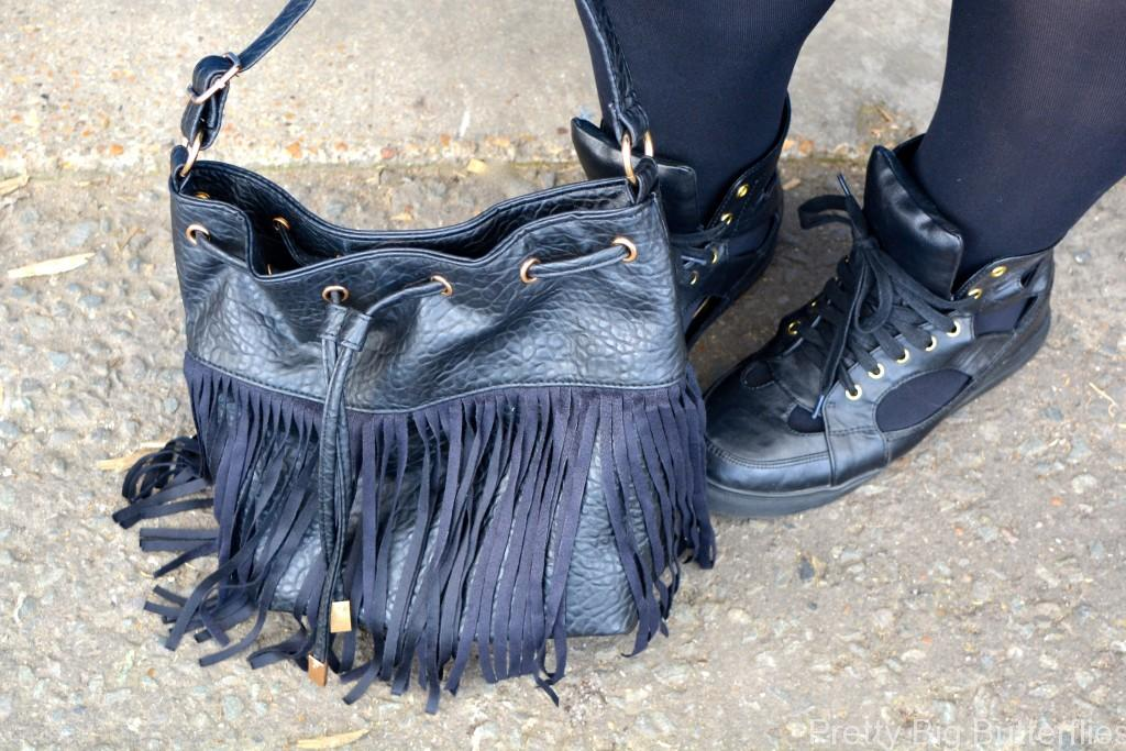 Tassle bag and cut out trainers - Pretty Big Butterflies