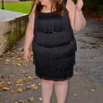 Plus Size Flapper Dress - pretty big butterflies - blogger
