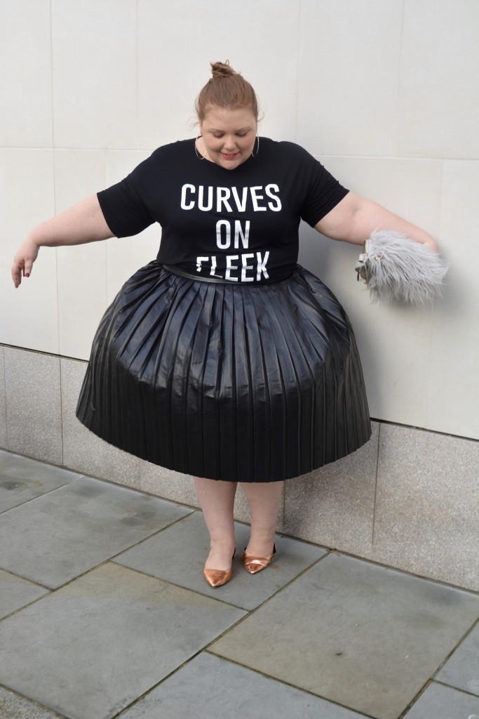 Simply Be Plus Size PU Skirt