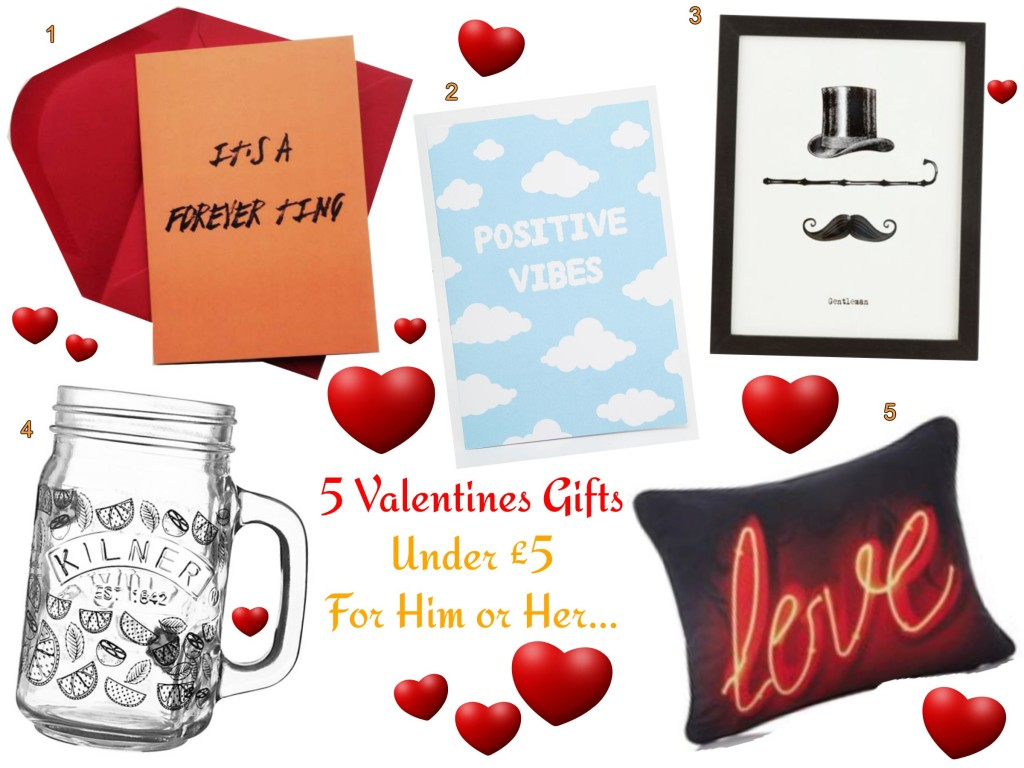 Valentines gifts for under £5