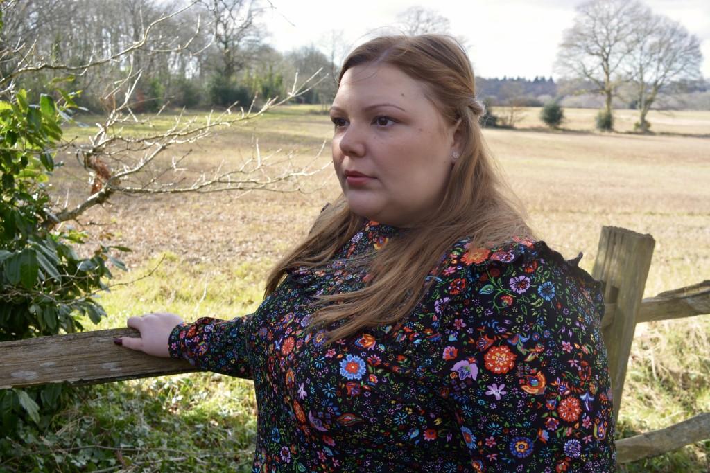plus size floral dress review