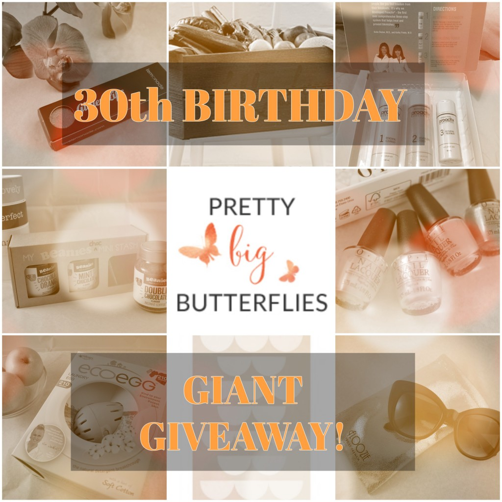 Pretty Big Butterflies Blogger Birthday Giveaway