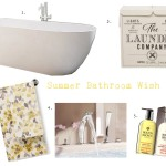 summer bathroom wish list