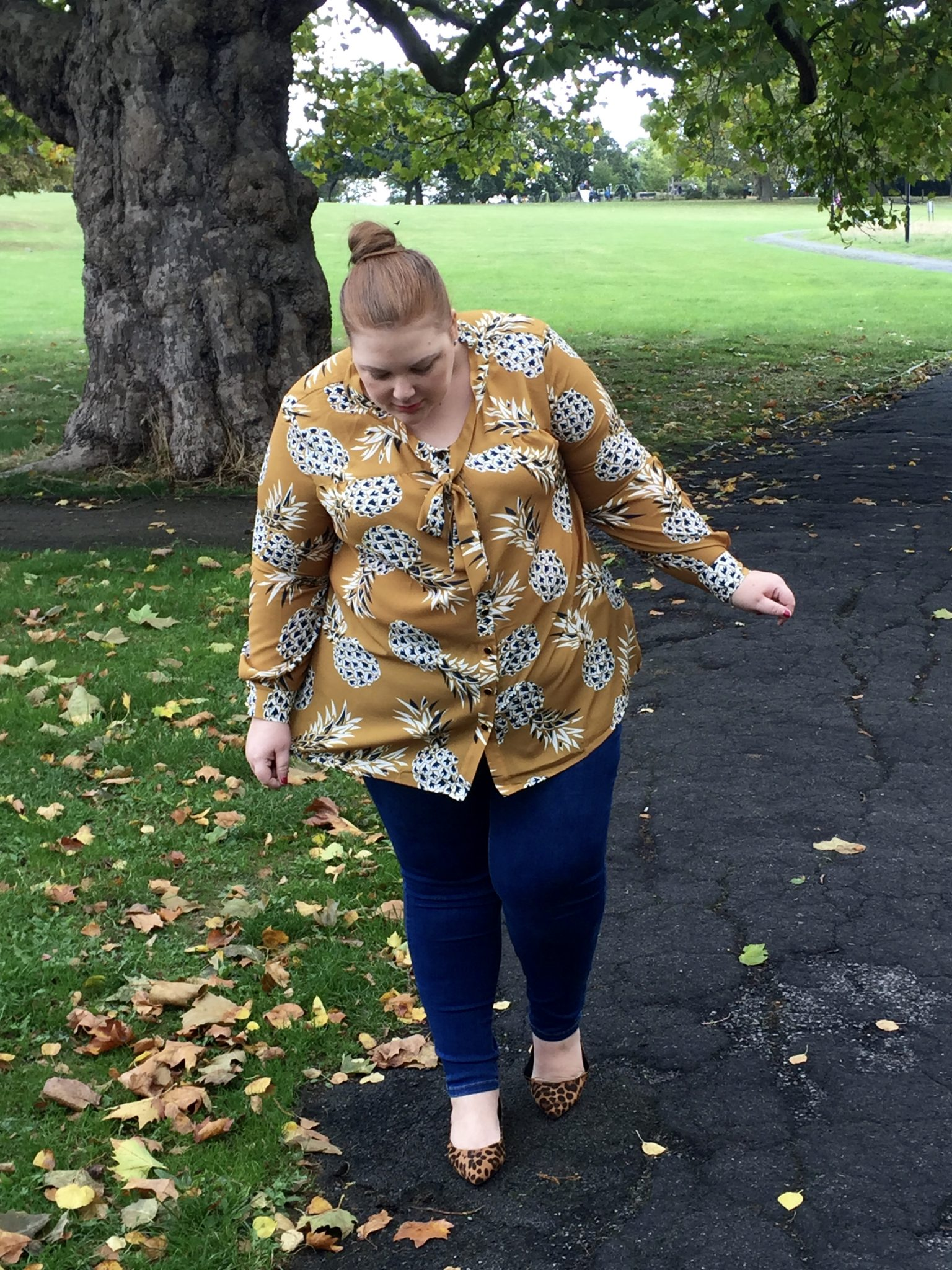 - Plus Size Blogger - Plus Size Pineapple Shirt - Pretty Big Butterflies