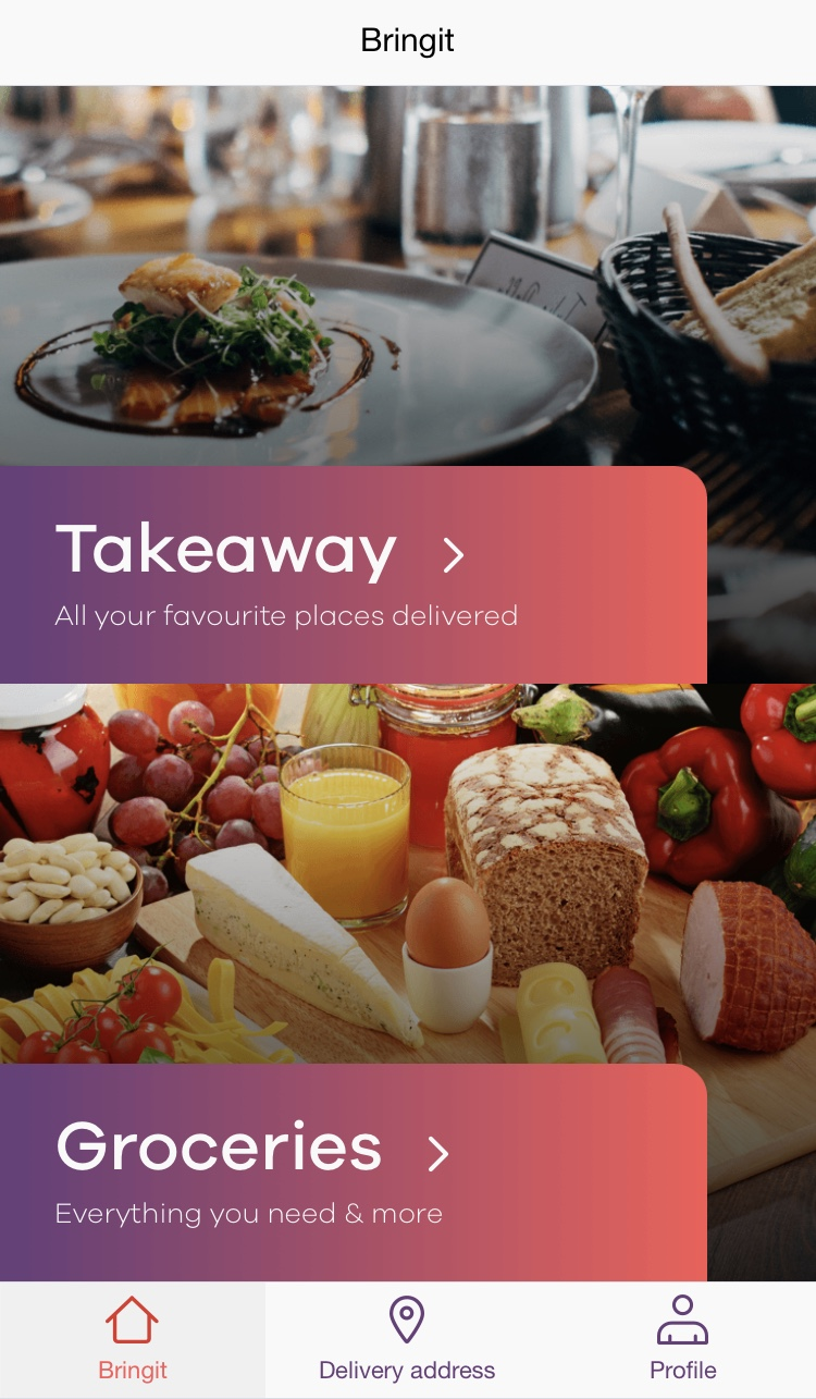 BringIt Food Delivery App Review - food Blogger - London