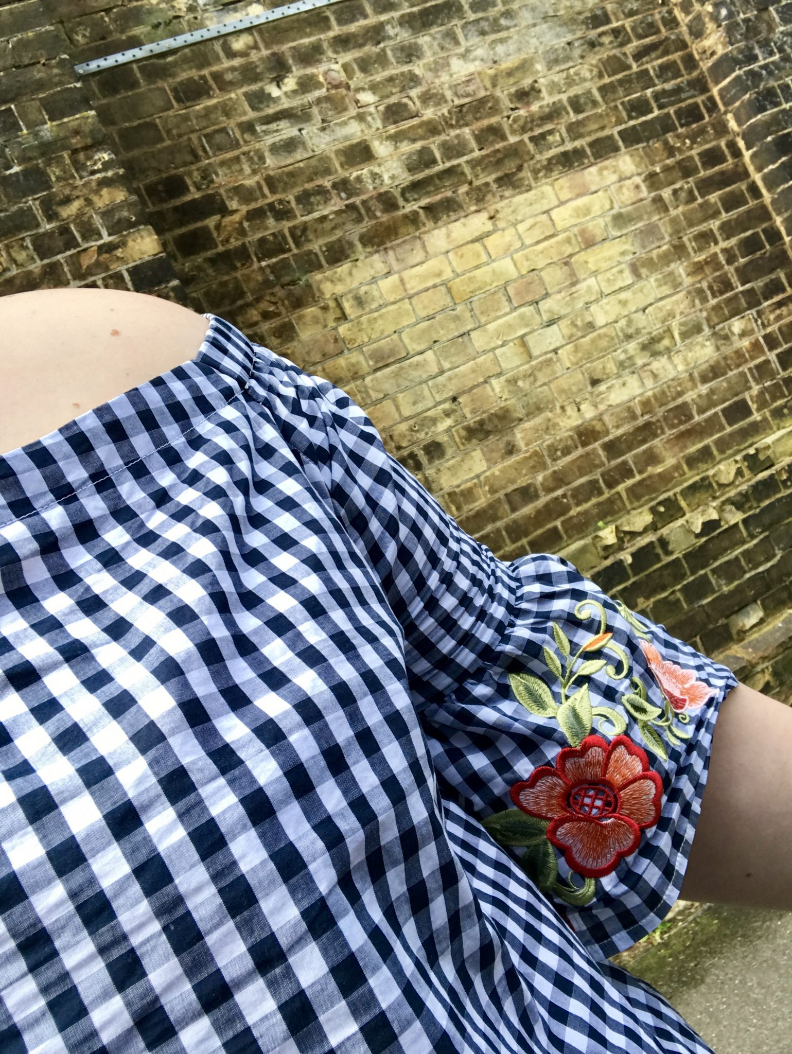 Plus size gingham top - Simply Be - Review - pretty Big Butterflies