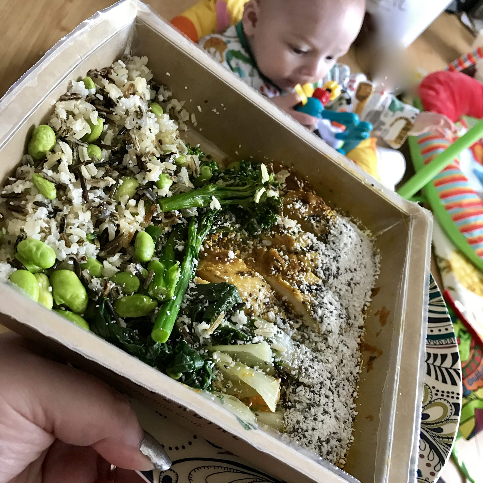 healthy lunch and dinners for new mums - pretty big butterflies