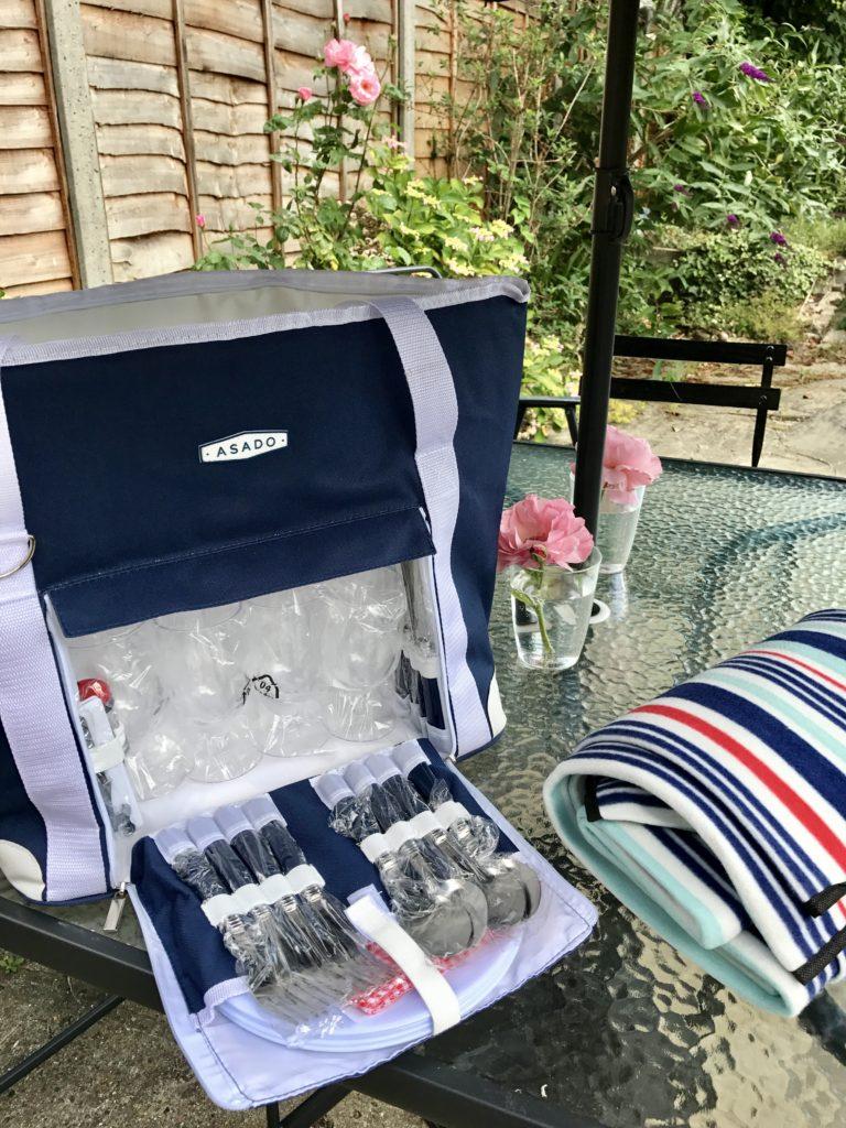National picnic week - B&M picnic bag - pretty big butterflies